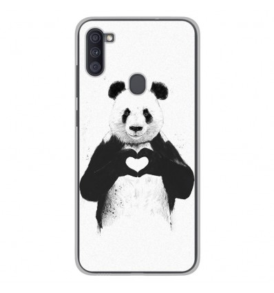 Coque en silicone Samsung Galaxy A11 - BS Love Panda