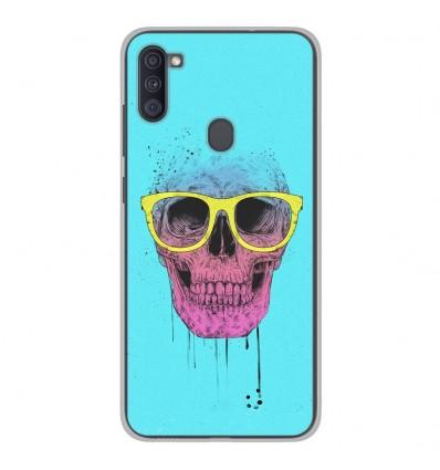 Coque en silicone Samsung Galaxy A11 - BS Skull glasses