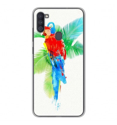 Coque en silicone Samsung Galaxy A11 - RF Tropical party