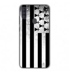 Coque en silicone Samsung Galaxy A11 - Drapeau Bretagne