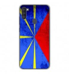Coque en silicone Samsung Galaxy A11 - Drapeau La Réunion