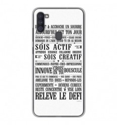 Coque en silicone Samsung Galaxy A11 - Citation 11