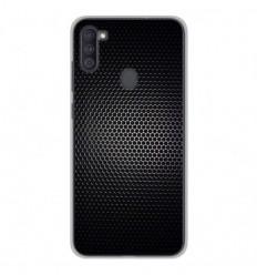 Coque en silicone Samsung Galaxy A11 - Dark Metal