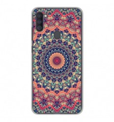 Coque en silicone Samsung Galaxy A11 - Mandalla rose