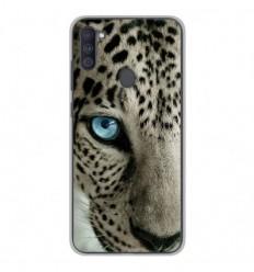 Coque en silicone Samsung Galaxy A11 - Oeil de léopard