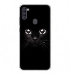 Coque en silicone Samsung Galaxy A11 - Yeux de chat