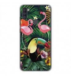 Coque en silicone Samsung Galaxy A11 - Tropical Toucan