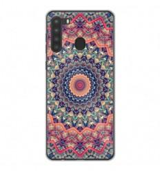 Coque en silicone Samsung Galaxy A21 - Mandalla rose