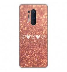 Coque en silicone OnePlus 8 Pro - Paillettes coeur