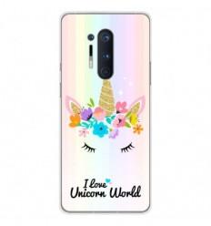 Coque en silicone OnePlus 8 Pro - Unicorn World