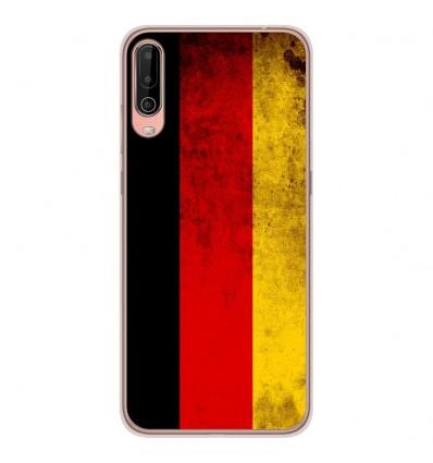 Coque en silicone Wiko View 4 - Drapeau Allemagne