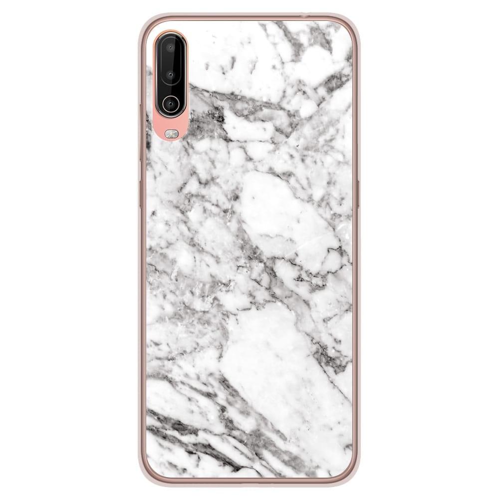 Coque en silicone Wiko View 4 - Marbre Blanc