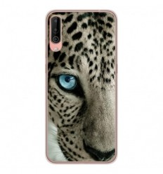 Coque en silicone Wiko View 4 - Oeil de léopard