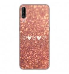 Coque en silicone Wiko View 4 - Paillettes coeur