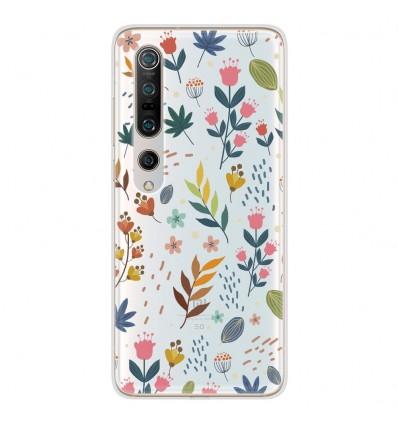 Coque en silicone Xiaomi Mi 10 / Mi 10 Pro - Fleurs colorées