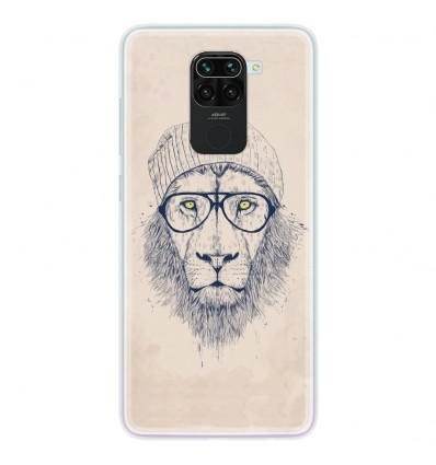 Coque en silicone Xiaomi Redmi Note 9 - BS Cool Lion