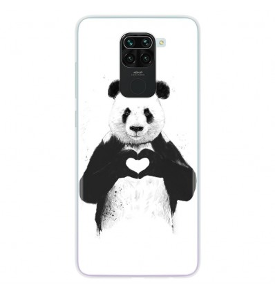 Coque en silicone pour Xiaomi Redmi Note 9 - BS Love Panda
