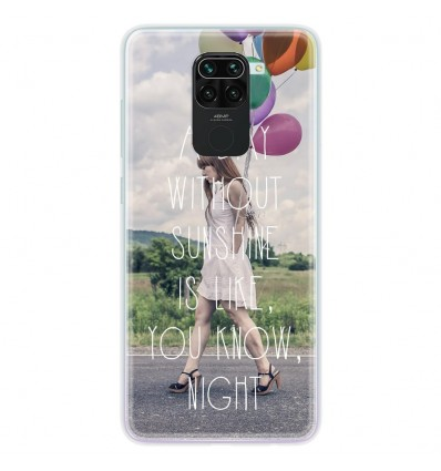 Coque en silicone Xiaomi Redmi Note 9 - Woman