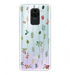 Coque en silicone Xiaomi Redmi Note 9 - Montée de fleurs