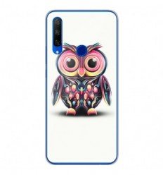 Coque en silicone Huawei Honor 9X - Hiboux coloré