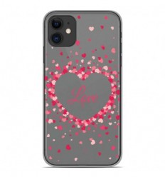 Coque en silicone Apple iPhone 11 - Confettis de Coeurs Love