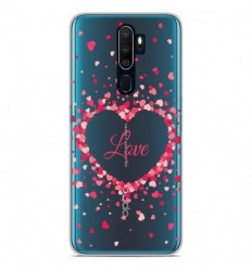 Coque en silicone Oppo A9 2020 - Confettis de Coeurs Love