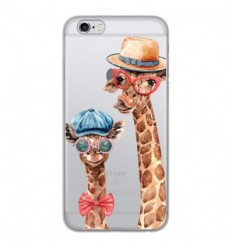 Coque en silicone Apple iPhone 6 / 6S - Funny Girafe