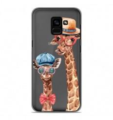 Coque en silicone Samsung Galaxy A8 2018 - Funny Girafe
