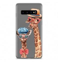 Coque en silicone Samsung Galaxy S10 - Funny Girafe