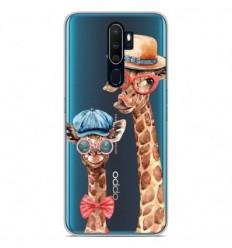 Coque en silicone Oppo A5 2020 - Funny Girafe