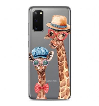 Coque en silicone Samsung Galaxy S20 - Funny Girafe