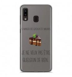 Coque en silicone Samsung Galaxy A20e - Manger des gâteaux