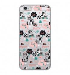 Coque en silicone Apple iPhone 6 / 6S - Miaou