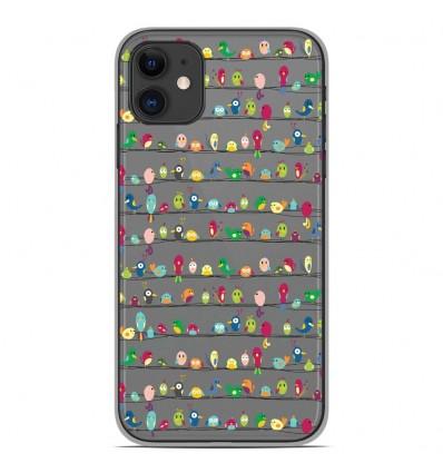 Coque en silicone Apple iPhone 11 - Oiseaux