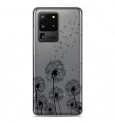 Coque en silicone Samsung Galaxy S20 Ultra - Pissenlits Noir
