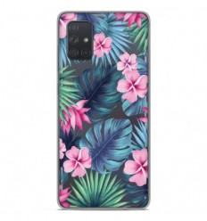 Coque en silicone Samsung Galaxy A51 - Tropical Aquarelle