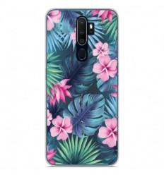 Coque en silicone Oppo A5 2020 - Tropical Aquarelle
