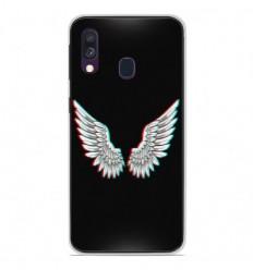 Coque en silicone Samsung Galaxy A40 - Ailes d'Ange