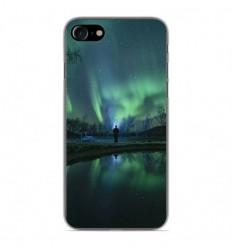 Coque en silicone Apple iPhone 7 - Aurores Boréales