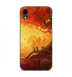 Coque en silicone Apple iPhone XR - Automne à deux