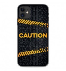 Coque en silicone Apple iPhone 11 - Caution