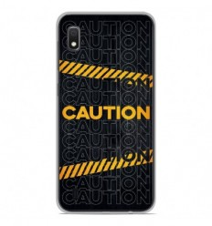 Coque en silicone Samsung Galaxy A10 - Caution