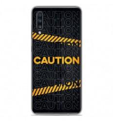 Coque en silicone Samsung Galaxy A50 - Caution