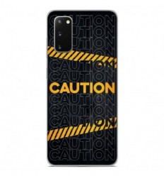Coque en silicone Samsung Galaxy S20 - Caution