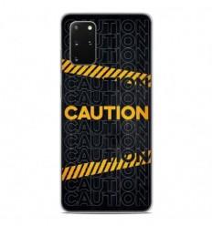 Coque en silicone Samsung Galaxy S20 Plus - Caution