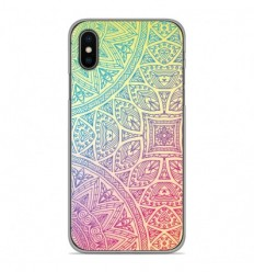 Coque en silicone Apple iPhone X / XS - Mandala Pastel