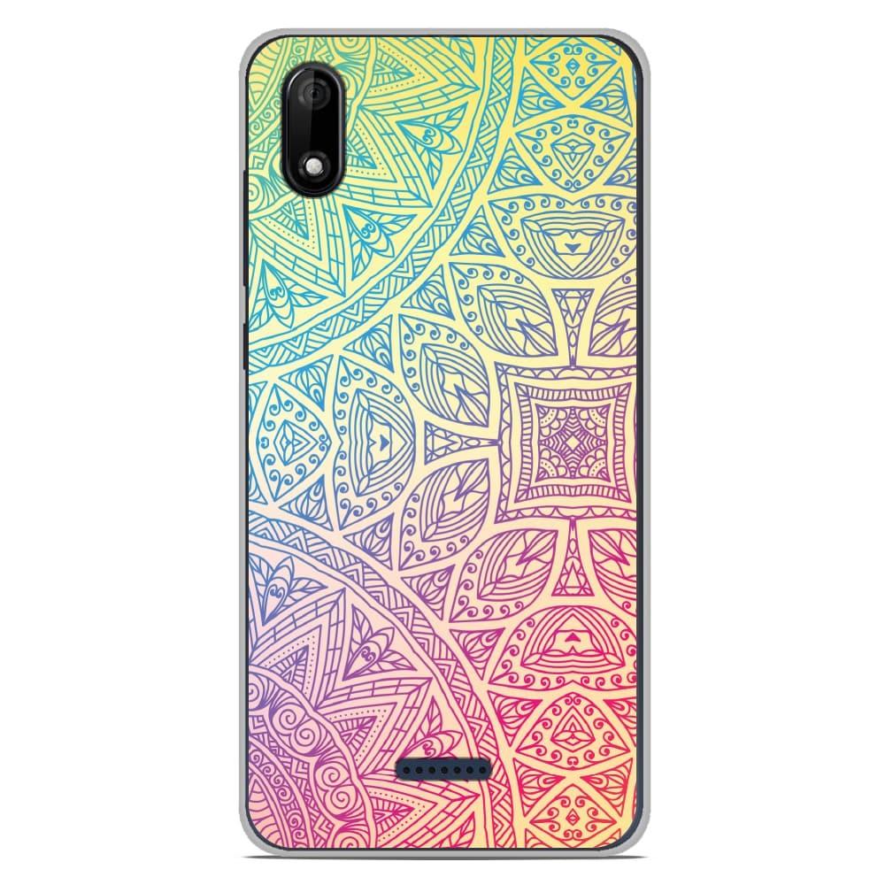 Coque en silicone Wiko Y80 - Mandala Pastel