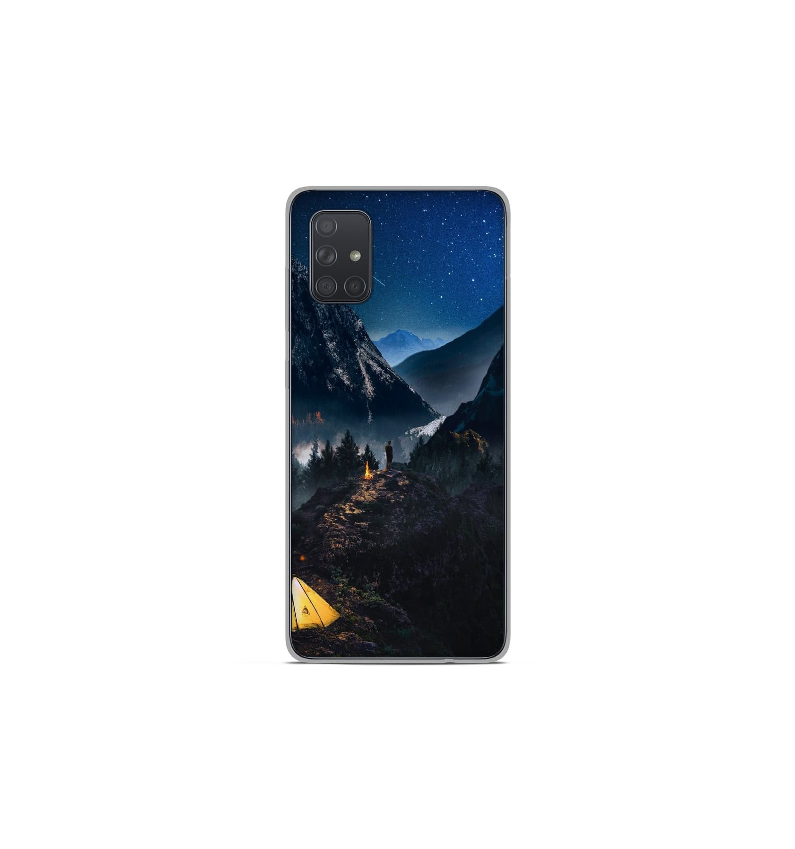 Coque en silicone Samsung Galaxy A51 - Seul en Montagne