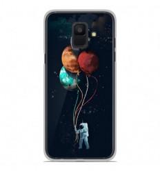 Coque en silicone Samsung Galaxy A6 2018 - Cosmonaute aux Ballons