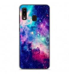 Coque en silicone Samsung Galaxy A20e - Galaxie Bleue